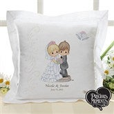 Precious Moments® Personalized Wedding Linen Pillow - 11681