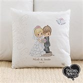 Precious Moments® Personalized Wedding Throw Pillow - 11681