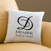 Our Monogram Personalized Keepsake Pillow - 11686