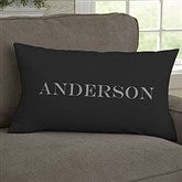 Our Monogram Personalized Lumbar Throw Pillow - 11686-LB