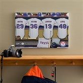 Texas Rangers MLB Personalized Locker Room Canvas- 12x18 - 11695-S