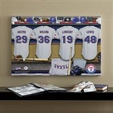 Texas Rangers MLB Personalized Locker Room Canvas- 16x24 - 11695-M