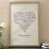 Wedding Vows Personalized Canvas Art - 11696