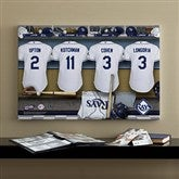 Tampa Bay Rays MLB Personalized Locker Room Canvas- 16x24 - 11698-M
