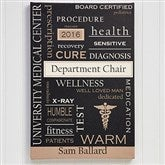 Medical Professionals Personalized Canvas Print- 24