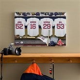 Boston Red Sox MLB Personalized Locker Room Canvas- 12x18 - 11703-S