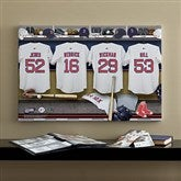 Boston Red Sox MLB Personalized Locker Room Canvas- 16x24 - 11703-M