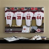 Cincinnati Reds MLB Personalized Locker Room Canvas- 16x24 - 11706-M