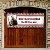 Happy Retirement Personalized Photo Banner - 11714-A