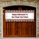 Happy Retirement Personalized Non-Photo Banner - 11714-B