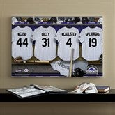Colorado Rockies MLB Personalized Locker Room Canvas- 16x24 - 11718-M