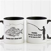 What A Catch! Personalized Coffee Mug 11oz.- Black - 11719-B