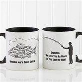 What A Catch! Personalized Coffee Mug 11oz.- Black - 11719-B