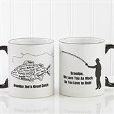 What A Catch!© Personalized Black Handle Mug - 11719
