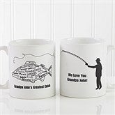 What A Catch! Personalized Coffee Mug 11oz.- White - 11719-S