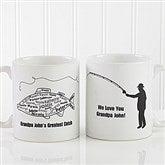 What A Catch! Personalized Coffee Mug 11oz.- White - 11719-S