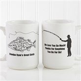 What A Catch! Personalized Coffee Mug 15oz.- White - 11719-L