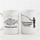 What A Catch! Personalized Coffee Mug 15oz.- White - 11719-L