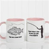 What A Catch! Personalized Coffee Mug 11oz.- Pink - 11719-P