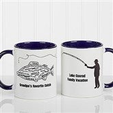 What A Catch! Personalized Coffee Mug 11oz.- Blue - 11719-BL