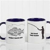 What A Catch! Personalized Coffee Mug 11oz.- Blue - 11719-BL