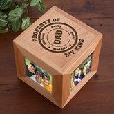 Property of My Kids Personalized Photo Cube - 11721
