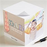 For Dad Personalized Paper Photo Note Cube-3 Photos - 11729-3