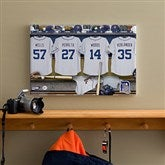 Detroit Tigers MLB Personalized Locker Room Canvas- 12x18 - 11738-S