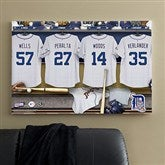 Detroit Tigers MLB Personalized Locker Room Canvas- 24x36 - 11738-L