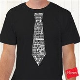 Repeating Name Tie Personalized T-Shirt - 11739-AT