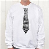 Repeating Name Tie Personalized Adult White Sweatshirt - 11739S