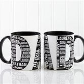Repeating Name For Him Personalized Coffee Mug 11oz.- Black - 11743-B