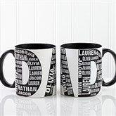 Repeating Name For Him Personalized Coffee Mug 11oz.- Black - 11743-B