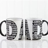 Repeating Name For Him Personalized Coffee Mug - 11743