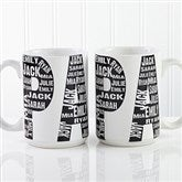 Repeating Name For Him Personalized Coffee Mug 15oz.- White - 11743-L