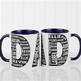Repeating Name For Him Personalized Coffee Mug 11oz.- Blue - 11743-BL