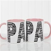 Repeating Name For Him Personalized Coffee Mug 11oz.- Pink - 11743-P