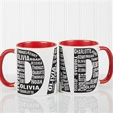 Repeating Name For Him Personalized Coffee Mug 11oz.- Red - 11743-R