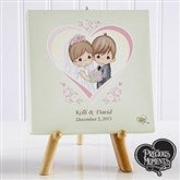 Precious Moments© Personalized Heart Wedding Canvas Art - 11744