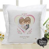 Precious Moments® Personalized Heart Wedding Linen Pillow - 11746