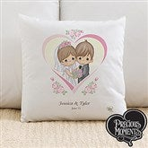 Precious Moments® Personalized Heart Wedding Throw Pillow - 11746-L