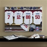 Minnesota Twins MLB Personalized Locker Room Canvas- 16x24 - 11747-M