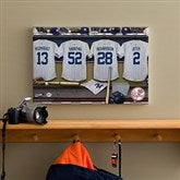 NY Yankees MLB Personalized Locker Room Canvas- 12x18 - 11749-S