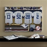 NY Yankees MLB Personalized Locker Room Canvas- 16x24 - 11749-M