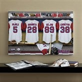 LA Angels MLB Personalized Locker Room Canvas- 16x24 - 11750-M