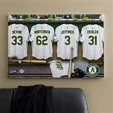 Oakland A's MLB Personalized Locker Room Canvas- 24x36 - 11752-L