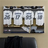 Toronto Blue Jays MLB Personalized Locker Room Canvas- 24x36 - 11753-L
