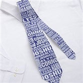 Repeating Name Personalized Men's Tie - 11758