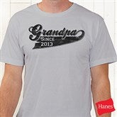 Grandpa Since Personalized Black T-Shirt - 11796-BRT