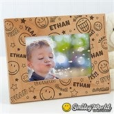 SmileyWorld® Personalized Wood Photo Frame - 11819